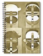 Pop Art People Monochromatic Four Spiral Notebook
