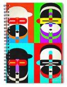 Pop Art People Quattro Spiral Notebook