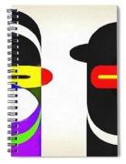 Pop Art People Row White Background Spiral Notebook