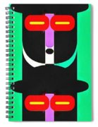 Pop Art People Totem 4 Spiral Notebook