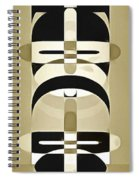 Pop Art People Totem 6 Spiral Notebook