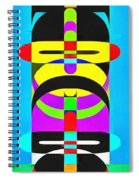 Pop Art People Totem 7 Spiral Notebook