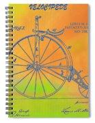 Pop Art Velocipede Patent Spiral Notebook