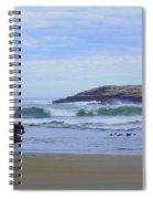 Popham Beach Surf Spiral Notebook