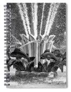 Popp Fountain In City Park Bw Spiral Notebook