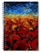 Poppies 2 Spiral Notebook