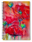 Poppies 2 Spiral Notebook