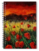 Poppies 68 Spiral Notebook