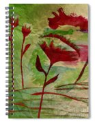 Poppies Abstract 2 Spiral Notebook