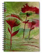 Poppies Abstract 3 Spiral Notebook