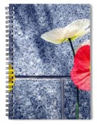 Poppies And Granite Spiral Notebook