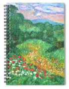 Poppies And Lace Spiral Notebook