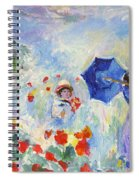 Poppies At Argenteuil Claude Monet Spiral Notebook
