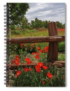 Poppies At The Farm Spiral Notebook