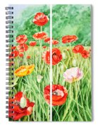 Poppies Collage I Spiral Notebook