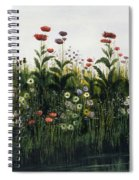 Poppies, Daisies And Thistles Spiral Notebook