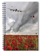 Poppies Dropped  Spiral Notebook