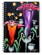 Poppies Fantasy.. Spiral Notebook