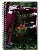 Poppies Growing Amongst Farm Machinery In A Farmyard Near Pocklington Yorkshire Wolds East Yorkshire Spiral Notebook