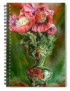 Poppies In A Poppy Vase Spiral Notebook