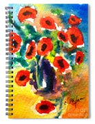 Poppies In A Vase Spiral Notebook