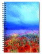 Poppies In The Mist Spiral Notebook