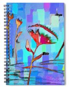 Poppies On Blue 2 Spiral Notebook