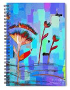 Poppies On Blue 3 Spiral Notebook