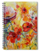 Poppies On Fire Spiral Notebook