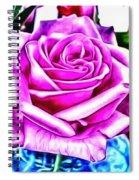 Poppin Purple Rose Spiral Notebook