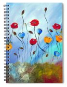 Poppy And Dragonfly Spiral Notebook
