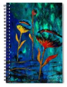Poppy At Night Abstract 1 Spiral Notebook