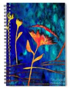 Poppy At Night Abstract 2 Spiral Notebook