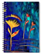 Poppy At Night Abstract 3  Spiral Notebook