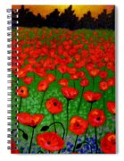 Poppy Carpet  Spiral Notebook