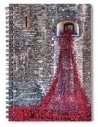 Poppy Cascade Spiral Notebook