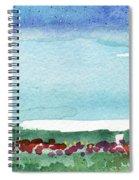 Poppy Field- Landscape Painting Spiral Notebook