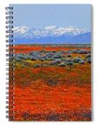 Poppy Fields Forever Spiral Notebook