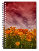 Poppy Fields Forever Spiral Notebook