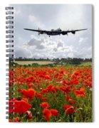 Poppy Fly Past Spiral Notebook