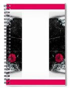 Poppy Jasper Stone Painting With Borders 7 Spiral Notebook