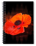 Poppy Passion Square Spiral Notebook