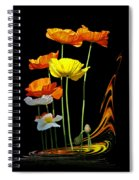 Poppy Pirouette Vertical Spiral Notebook