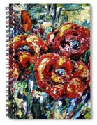 Poppy Red Flowers Spiral Notebook