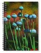 Poppy Seed Pods Spiral Notebook