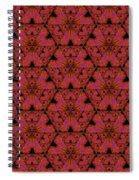 Poppy Sierpinski Triangle Fractal Spiral Notebook