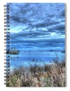 Poquoson Yacht On Stormy Morning Spiral Notebook