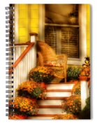 Porch - In The Light Of Autumn Spiral Notebook