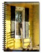 Porch - Long Afternoon Shadow Of Rocking Chair Spiral Notebook