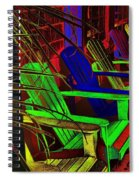 Neon Porch Perches Spiral Notebook